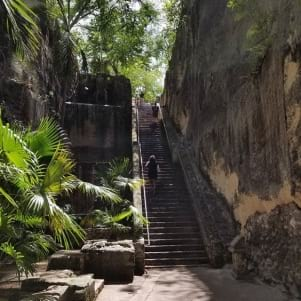 The queens staircase in Nassau was a very interesting Bahamas landmark