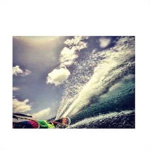 Kite surfing is fun