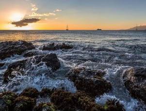Beautiful sunset in Nevis