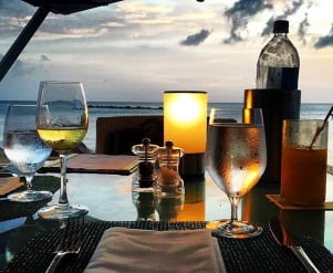 Romantic dinner in Nevis.