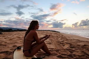 Spending some quiet time by the beach on the Island of Oahu.