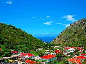 Beautiful valley in Saba