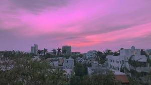 Rosy Sky in South Beach Miami