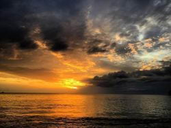 A picture of the sunset in St. Lucia!