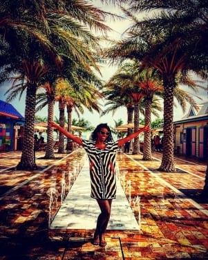 Having fun at St. Maarten