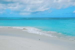 The blue water and white in St Martin is amazing.