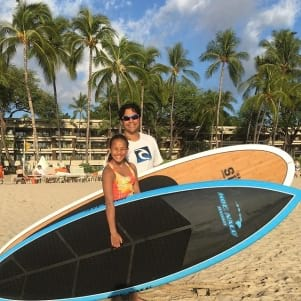 Dad and daughter day in Hawaii.