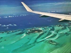 Flying in to the Exumas Bahamas