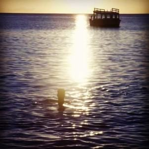 Dramatic sunset in Tobago