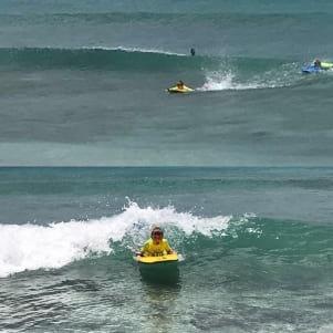 Surfboarding is fun