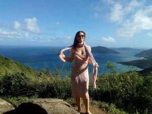 Emjoying the day in Tortola.
