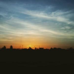 Brilliant sunset at Trinidad