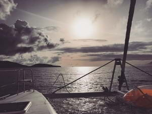 Picture perfect sunset in Virgin Gorda